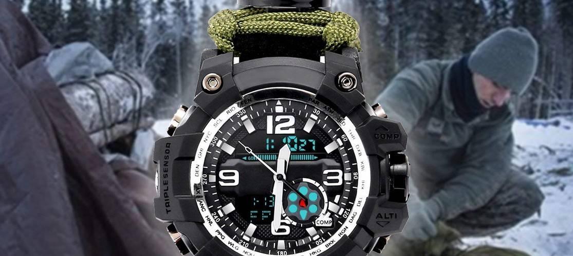 Les bracelets et montres de survie en paracorde